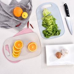 小麦砧板儿童辅食板塑料菜板水果板 可降解不易发霉单片装【颜色随机】