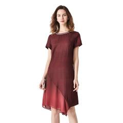 红颜桑波缎真丝香云纱连衣裙
