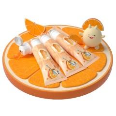 怡恩贝儿童牙膏3-6-10-12岁以上换牙期小学生香橙味味含氟牙膏防蛀4支装