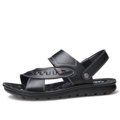 2020新款时尚休闲凉鞋 头层牛皮舒适透气沙滩鞋真皮男鞋