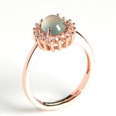 琳福珠宝   925银镶嵌缅甸A货冰种翡翠戒指(带国检证书)