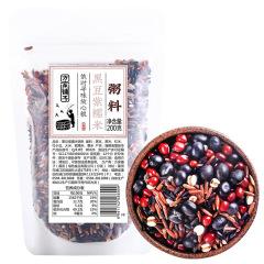 方家铺子 黑豆血糯米粥料(袋200g)*3袋