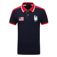 皇家棕榈马球俱乐部 男短袖商务休闲POLO衫翻领男士T恤13528106