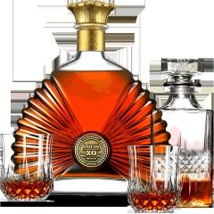 法国洋酒XO太阳王白兰地700ml原瓶原装进口礼袋礼盒