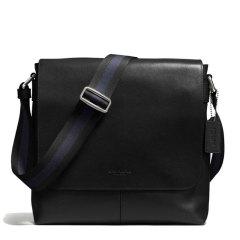 蔻驰(COACH)男士新款时尚商务休闲翻盖单肩斜挎包 72362