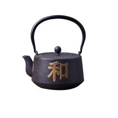 鼎匠 手工老铁壶 茶壶 日本南部传统工艺铁壶 描金浮雕铸铁壶 大容量多热源泡茶壶 和天下