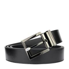 范思哲男士黑色可裁剪针扣腰带 V91S175 VM00046 V000