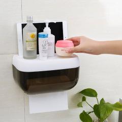 卫生间抽纸盒免打孔厕所收纳盒【颜色随机发货】