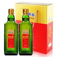 贝蒂斯(BETIS)特级初榨橄榄油 750ml双支礼盒 食用油 西班牙原装进口