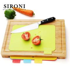 SIRONI-意大利多功能分类菜板套组 楠竹菜板 防霉抗菌