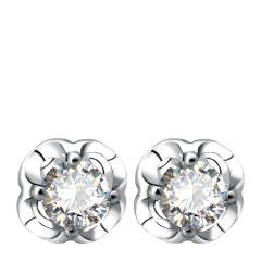 芭法娜 闪耀 0.4ct法式简约Pt950钻石耳钉