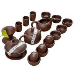 金镶玉 功夫茶具 茶具套装宜兴紫砂壶 整套茶具 紫砂茶具