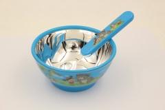 快乐宝贝足银儿童餐具