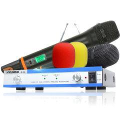 韩国现代无线麦克风 家庭影院手麦一拖二K歌舞台KTV电脑话筒