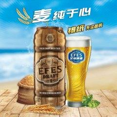 艾菲EFES 土耳其原装进口纯生生啤啤酒500ml*24罐 整箱 茶色