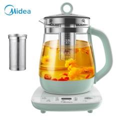 美的Midea养生壶电水壶热水壶多功能花茶壶电茶壶煮水壶煮茶器烧水壶15L玻璃开水壶