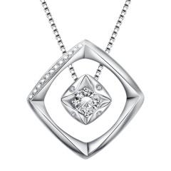 芭法娜 唯一 法式简约PT950钻石分体式吊坠