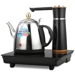 欧博(OPO)QB13-S106B 电热水壶 三合一烧水壶泡茶机 电磁炉茶盘茶具套装黑色