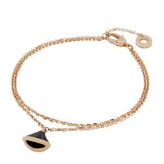 BVLGARI/宝格丽 DIVA系列女士18K玫瑰金/缟玛瑙手链