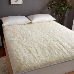 绫帛薇布100%澳洲羊毛软床垫-DLN