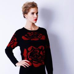 贝富莱时尚双层提花针织衫