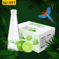 天地精华青柠檬苏打水饮料整箱无糖无汽批发碱性饮用水410ml*15瓶