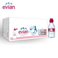 法国进口 依云(evian)天然矿泉水 儿童版330ml*24瓶 整箱装