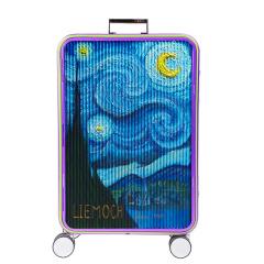 利马赫/LIEMOCH 个性金属旅行拉杆箱 20寸万向轮行李箱 油画版