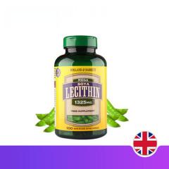 英国HB 荷柏瑞大豆卵磷脂1325mg100粒 心脑血管清道夫