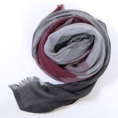 丁摩 SSYAOGE 羊毛格子拼接复古围巾W1701