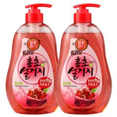 韩国原装进口爱敬石榴醋洗涤剂2瓶装