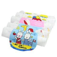 斜月三星 婴幼儿童宝宝夏季亲肤贴身透气吸汗巾 2条装