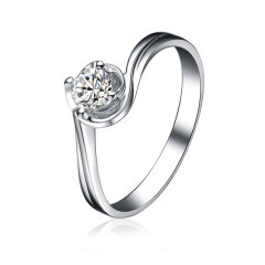 DODOBEL WOMEN 18K金白色经典永恒天然钻石钻戒24分